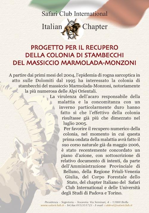 2006 | Progetto Stambecco